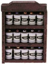 Dollhouse Miniature Spice Rack with Spices - 1:12 Scale