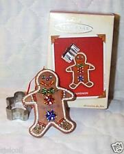 Hallmark 2003 GRANDSON Gingerbread Man Boy Cookie Cutter Ornament w Memory Card