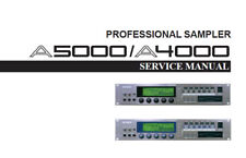 YAMAHA A4000 A5000 PROFESSIONAL SAMPLER SERVICE MANUAL INC SCHEM DIAGS ENGLISH