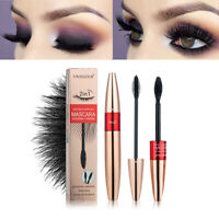 2-in-1 4D Silk Fibre Mascara Eyelashes Waterproof Extension Make Up Long Lasting