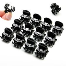 12 Pcs Black Plastic Mini Hairpin 6 Claws Hair Clip Clamp for Ladies Brand new