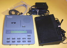 DICTAPHONE 3750 microcassette transcriber ac adapter, pedal, headset WARRANTY