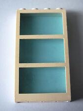 LEGO 6160c03 @@ Window 1 x 4 x 6 Frame 3 Panes Tr-Light Blu Glass 4555 6571 7894