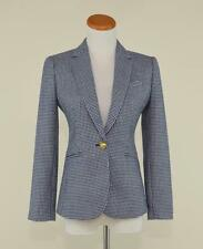 J.CREW $198 WOOL HOUNDSTOOTH CAMPBELL BLAZER 0P NAVY TWEED JACKET F5558