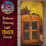 Primitive Country Colonial Lighted 6 Hr Timer Old Pie Safe Canvas Picture