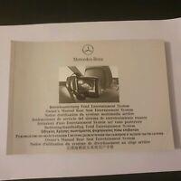 Mercedes Betriebsanleitung Fond Entertainment System (G Klasse),