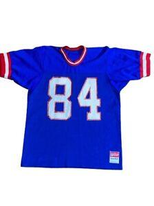 Rare Vintage 80s Sand Knit NFL New York Giants Number 84 Jersey Mens - L - USA.