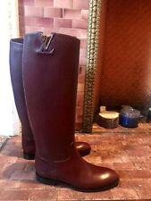 New Authentic Louis Vuitton Heritage Flat High Boots EU 37.5 US 7.5 Bordeaux