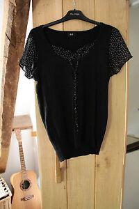 F & F Ladies Black Top / Jumper size 12