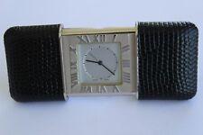 Tiffany & Co. Purse-Alarm watch Steel & Leather case Rare model NICE!