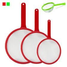 3 Pc Strainer Set Multi Purpose Food Colander w Handle Kitchen Sieves Drain Tool