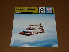 AIRSPEED OXFORD 1937-1945 RAF ENGLAND AVIATION FICHE WW2 39-45