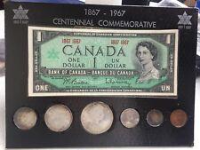 "1867-1967 CENTENNIAL ""SILVER"" COMMEMORATIVE CANADIAN 7 PC SET"