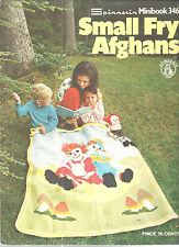 Crochet Small Fry Afghan 1973 Clown Raggedys ABCs Spinnerin Minibook 346