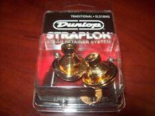 NEW - Dunlop Traditional Straplok Strap Lock System - GOLD, SLS1504G