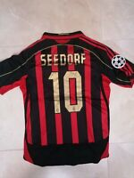 MAGLIA MILAN SERIE A CHAMPIONS  2006 2007 SEEDORF 10 RETRO VINTAGE JERSEY PATCH