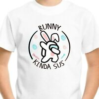 Among Us Happy Easter Kids T-Shirt Sus Bro Imposter Crewmate Gaming Gift Tee V3