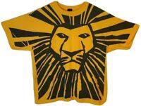 Disney The Lion King Broadway Musical Mens XL Graphic T-Shirt Yellow Vintage Tee