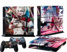 Custom Harley Quinn Decals Stickers Skin for PS4 Playstation Console Controllers