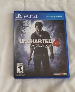 PS4 Uncharted 4: A Thief's End for PlayStation 4 2016 game & case
