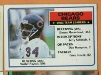 1983 Topps Football - #28 Chicago Bears Leaders - Walter Payton - nrmt condition