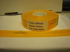 """ECE 104R-00821  AMBER YELLOW Reflective   Conspicuity Tape 1"""" x 50 ft"""