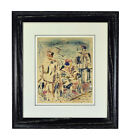 1950 Mid-Century Modern Abstract Painting Sailors w Bicycle sgd Robert Ehrlich