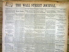 1932 Wall Street Journal newspaper w FINANCIAL COVERAGE of THE GREAT DEPRESSION