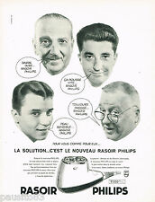 PUBLICITE ADVERTISING 075  1959  PHILIPS  le nouveau rasoir