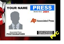 PRESS ID COLLECTOR CARDS << AP >>