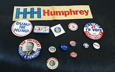 Hubert H. Humphrey HHH Johnson Muskie Politician President Pin Lot of 14