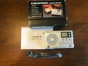 Grundig Platinum Traveler World Band Receiver Radio! Alarm Clock!