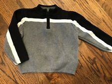VGUC Hanna Andersson 100/4T Gray and Navy Sweater.  Half Zip