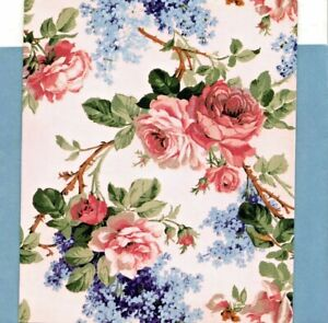 Classic Pink Climbing Rose Roses Blue Floral Blank Note Cards - Set of 20