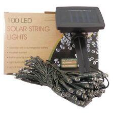Solar Lichterkette mit 100 LED mit Lichtsensor- innen/außen statisch/blinkend