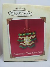 2003, CHRISTMAS TREE GIFT CLIP,  HALLMARK KEEPSAKE ORNAMENT