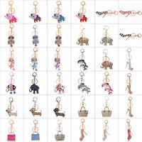 Rhinestone Crystal Keyring Charm Pendant Purse Bag Key Ring Chain Keychain Rings