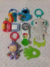 Newborn-Toddler Baby Developmental Toy Lot Teether, Bright Starts Music, Rattles
