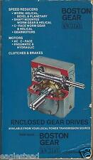 Equipment Catalog - Boston Gear - Enclosed Gear Drives - 1979 (E2748) - S