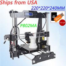 Auto level 3D printer Reprap prusa i3 DIY with PLA filament 8GB SD for free -New