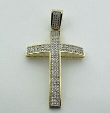 10KT YELLOW GOLD APPROX. GOLD WEIGHT 6.50GMS CROSS PENDANT WITH CZ
