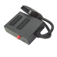 2 Two Way SWITCHED Double Scart Box Adaptor Adapter