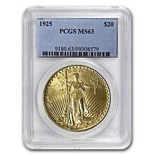 $20 Saint-Gaudens Gold Double Eagle Coin - Random Year - MS-63 PCGS - SKU #7223