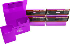 (5) BCW-MB-DD-MPU Purple Double Deck Trading Card Game Box Monster Protectors