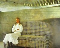Vintage Art James Wyeth Portrait of Lincoln Kirstein Whale Bone Cottage Gingham