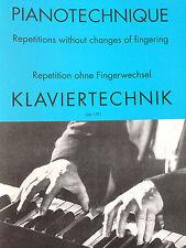 Klaviertechnik - Repetition ohne Fingerwechsel