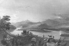 Syria, ASI ORONTES RIVER BRIDGE MOUNTAINS ~ 1836 Landscape Art Print Engraving
