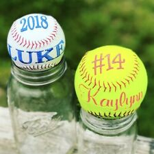 Personalized Baseball or SoftballEmbroidered