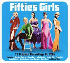 FIFTIES GIRLS - 75 ORIGINAL RECORDINGS - VARIOUS ARTISTS (NEW SEALED 3CD)