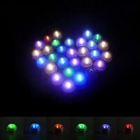 mini LED Submersible Waterproof Wed Xmas Decor Vase Tea Light Candles+Remote 3C